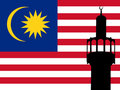 Minaret in Malaysia Royalty Free Stock Photography