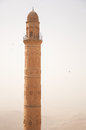Minaret in mardin high above the mesopotamia Stock Images