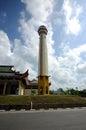 Minaret of masjid jubli perak sultan ismail petra a k a masjid beijing kelantan malaysia – march located in rantau panjang Stock Image