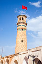 Minaret of  mosque in Kashan, Iran Stock Images