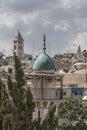 Minaret, Muslim Prayer Tower, East Jerusalem Royalty Free Stock Photo
