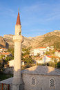 Minaret in old bar montenegro Royalty Free Stock Photos