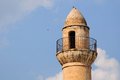 Minaret of old mosque in tiberius israel Stock Images