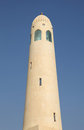 Minaret of Qatar State Mosque Stock Photo