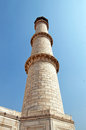 Minaret of Taj Mahal, Agra, India Royalty Free Stock Photo