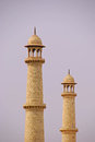 Minaret of taj mahal two minarets standing parallel Royalty Free Stock Photography