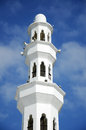 Minaret of tengku tengah zaharah mosque in terengganu malaysia – march the floating or on march at kuala ibai lagoon kuala Royalty Free Stock Images
