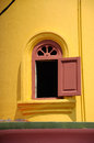 Minaret window of batak rabit mosque in teluk intan perak malaysia – december old on december Royalty Free Stock Photography