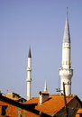 Minarets in Prizren city Royalty Free Stock Photo