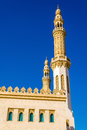 Minarets of Zabeel Mosque in Dubai Royalty Free Stock Photo