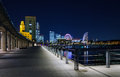 Minato mirai bay yokohama japan city in at night Royalty Free Stock Photography