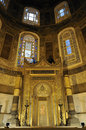 Minbar at hagia sophia Stock Photo