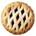Mince pie isolated from above on white Royalty Free Stock Photos