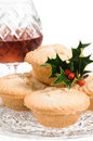 Mince Pies With Brandy Stock Photography