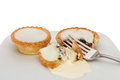 Mince pies and fork Royalty Free Stock Images