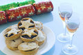 Mince pies and Sherry Royalty Free Stock Image