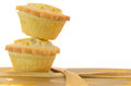 Mince pies on a white background Stock Images