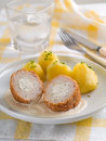 Minced meat ball with cheese selective focus Stock Image