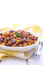 Minced meat with corn, sweet peppers and beans Royalty Free Stock Photo