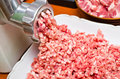 Minced meat preparation Stock Photography