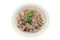 Minced pork on white blackground Stock Image