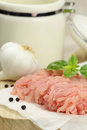 Minced turkey meat Royalty Free Stock Photo