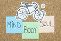 Mind body soul balance concept Stock Photo
