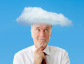 Mind in a cloud symbol Royalty Free Stock Image