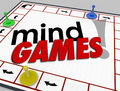 Mind Games Board Psychology Behavior Tricks Psychology Emotion Royalty Free Stock Photo