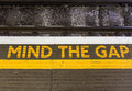 Mind the gap sign Royalty Free Stock Photo