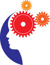 Mind gears vector illustration of Royalty Free Stock Photography