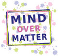 Mind over Matter - Text with Dots Royalty Free Stock Image