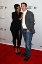Mindy kaling chris messina new york apr actress and director r attend the alex of venice premiere at the sva theatre during the Stock Photography