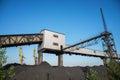 Mine for coal mining in Ukrain Royalty Free Stock Photo