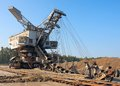Mine machine landscape with on sunny day against blue sky Royalty Free Stock Images