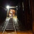 Banská železnica v podzemí