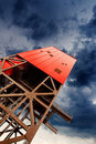 Mine shaft tower Royalty Free Stock Images