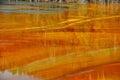Mine water contamination in geamana near rosia montana romania copper Stock Images