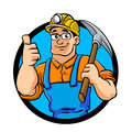 Miner hold the pick axe