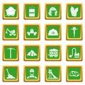 Miner icons set green
