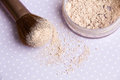 Mineral Makeup powder Royalty Free Stock Photo