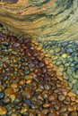 Mineral Stained Stones Stock Image