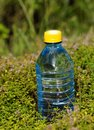 Mineral water in a bottle on a hot day plastic quench your thirst Stock Image