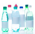 Mineral water bottles Royalty Free Stock Photo