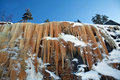 Mineralized icicles Stock Image