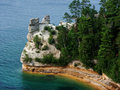 Miners Castle at Pictured Rocks National Lakeshore Stock Photos