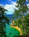 Miners Castle Point at Pictured Rocks National Lakeshore Royalty Free Stock Photo