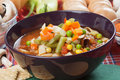 Minestrone vegetable soup Royalty Free Stock Photo