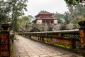 Ming mang emperor tomb in hue vietnam minh lau pavilion at Stock Photography