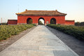 The ming tombs dynasty of dynasty is a chinese emperor of dynasty tomb group located in beijing in northwest of Stock Image